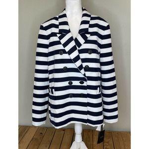 NWT HALOGEN Striped Button Up Blazer Size 22